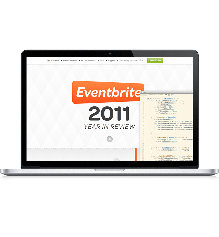 Web Dev for Eventbrite